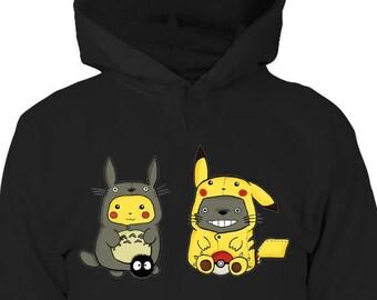 571e21a592c8 My Neighbor Totoro - Totoro Hoodie - Pokemon Hoodie - Pikachu Hoodie -  Totoro Gifts - Studio Ghibli - Anime Hoodie - Birthday Gift