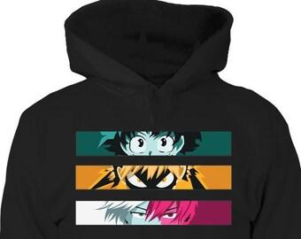 anime hoodie etsy