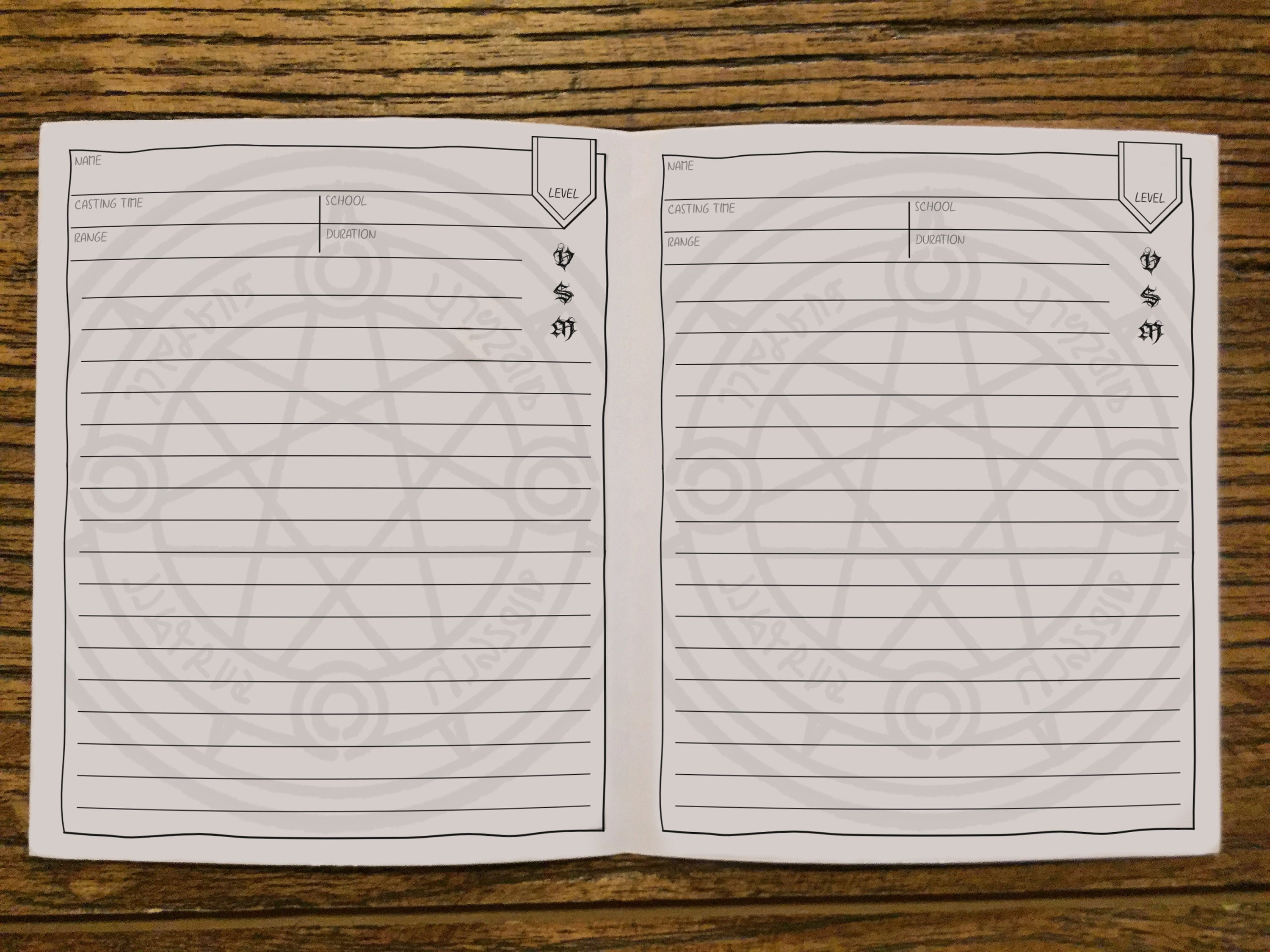 graphic regarding Printable Dm Screen 5e Portrait identified as DD Mini Spell Booklet Printable Dungeons and Dragons Persona Blank Spell Playing cards Sheet DnD 5e Electronic Obtain