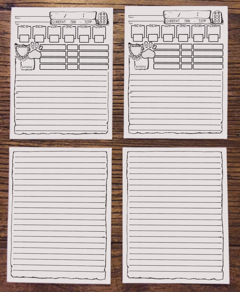 D&D Companion Sheet 1/4 | Printable Dungeons and Dragons Character sheet  Companion Cards Sheet | DnD 5e | Digital Download