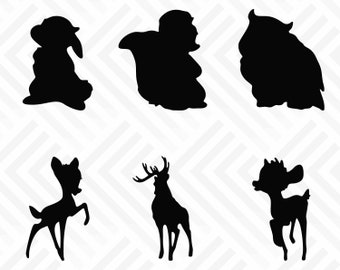 Bambi Silhouette Etsy
