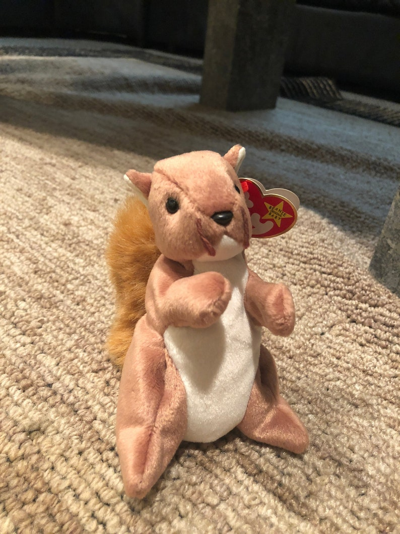 659f0ac1234 Ty Beanie Baby   Babies Nuts the Squirrel Retired Vintage