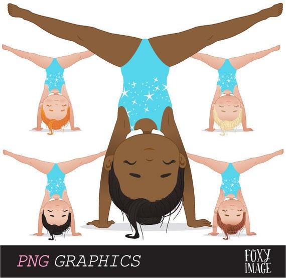 Cartoon Gymnastics Clip Art Danasrif Top - Splits Clipart With Transparent  Background - Free Transparent PNG Clipart Images Download