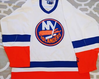 3356ad2fca3 Mid 90's Size Adult Large Starter New York Islanders White NHL Hockey Jersey
