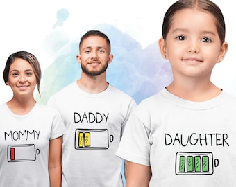 Tired not tired baby dad matching set baby grow t shirt father son