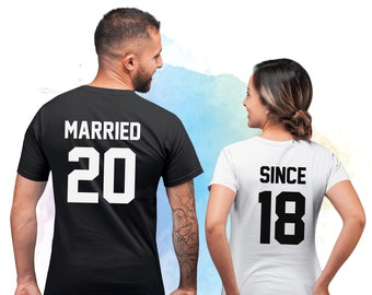 d20270dfc9 Married Since Couples Shirts, Just married shirts, Matching Couples shirts, Married  Since Honeymoon shirts, Anniversary shirts