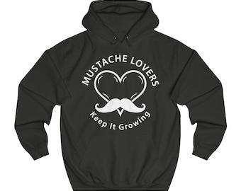 Mustache Lovers Unisex College Hoodie 1b57497d75a6