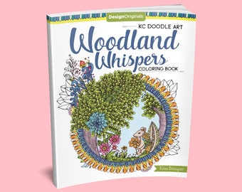 Woodland Whispers Coloring Book - Woodland Coloring Page - Animals Coloring