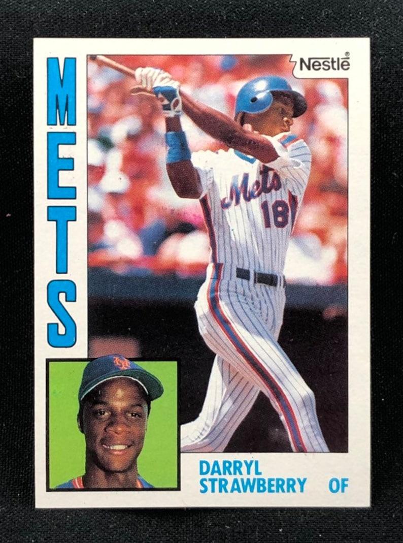Vintage 1984 Darryl Strawberry Nestle Rookie Topps Baseball Card 182 New York Mets Original Authentic Ec 26