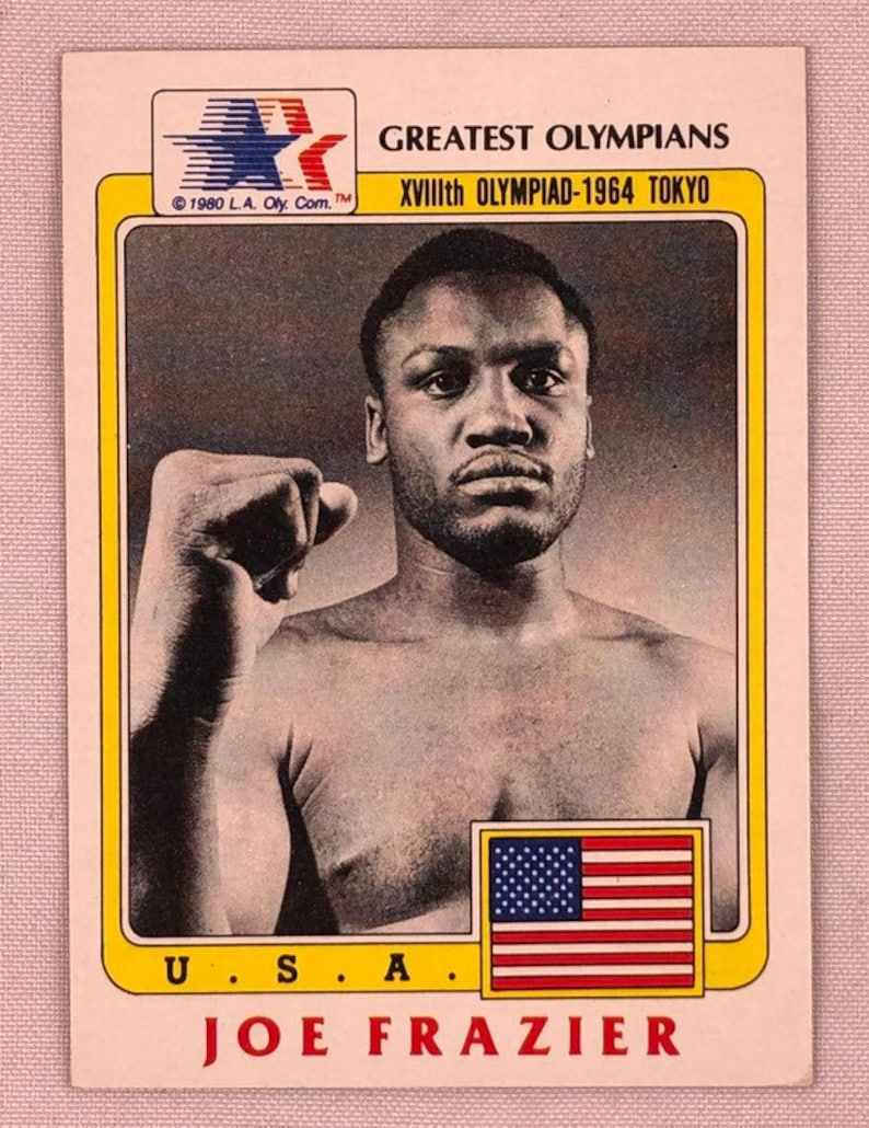 Joe Frazier 1983 Topps Greatest Olympians Card # 98 Vintage Olympic Boxing Genuine Original Authentic EC123