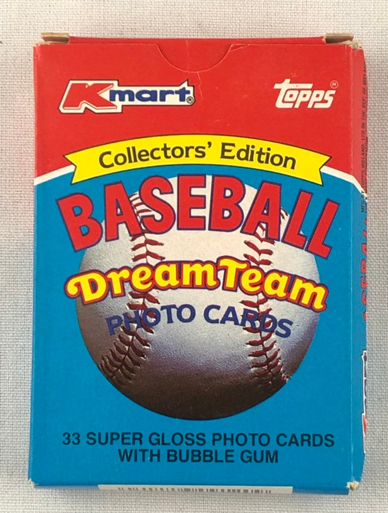 1989 Topps Kmart Dream Team Complete Box Set Of 33 Cards