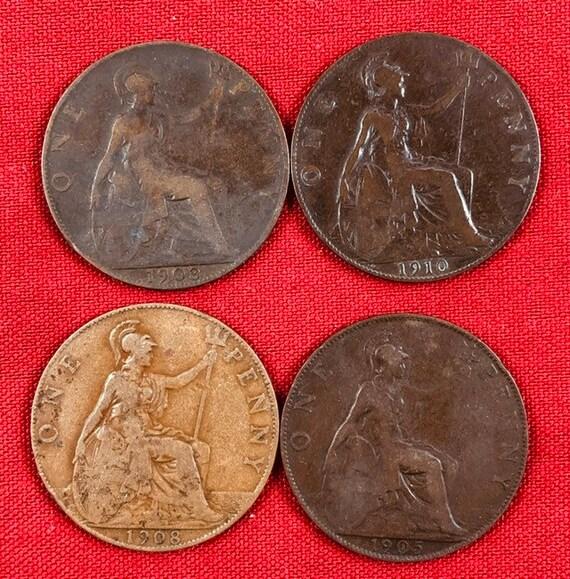 1960s Queen V to Queen Elizabeth ^ 1900s LOT OF 20 UK BRITISH PENNY COINS 1899