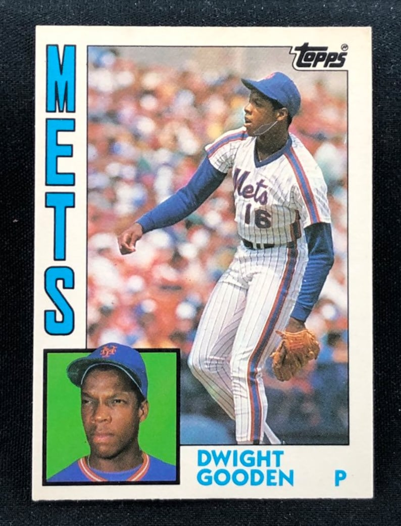 Vintage 1984 Traded Dwight Gooden Rookie Topps Baseball Card 42 T New York Mets Original Authentic Ec 23