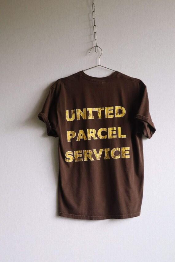 Vintage Brown UPS Large Print Tee - Medium  vinta… - image 5