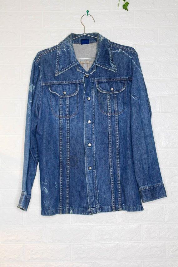 Vintage Western x Denim x Jean Shirt  vintage clot