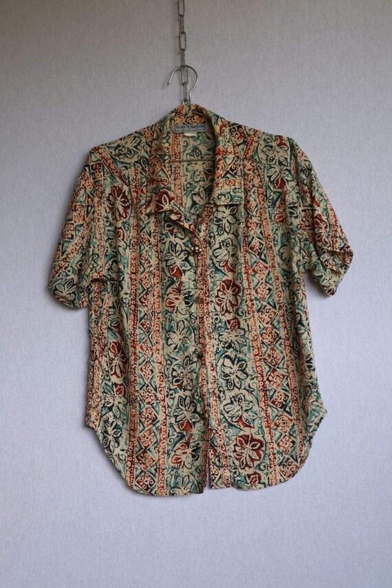 Vintage Floral Button Down Shirt  vintage clothin… - image 10