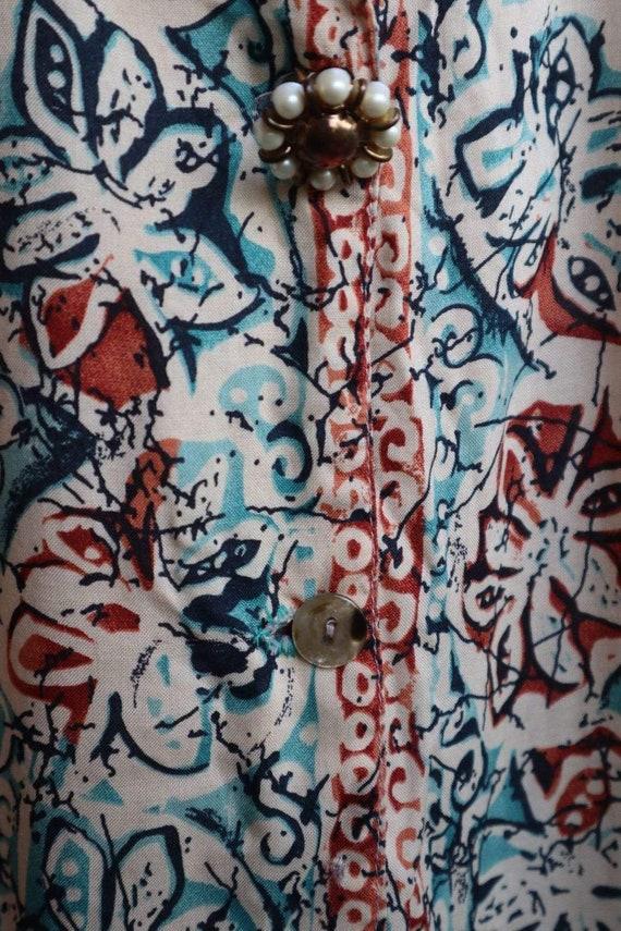 Vintage Floral Button Down Shirt  vintage clothin… - image 7