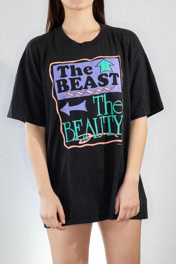 Vintage The Beast, The Beauty Tee x Large  vintag… - image 3