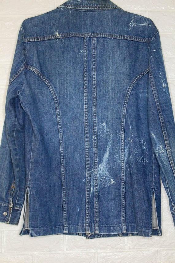 Vintage Western x Denim x Jean Shirt  vintage clo… - image 6