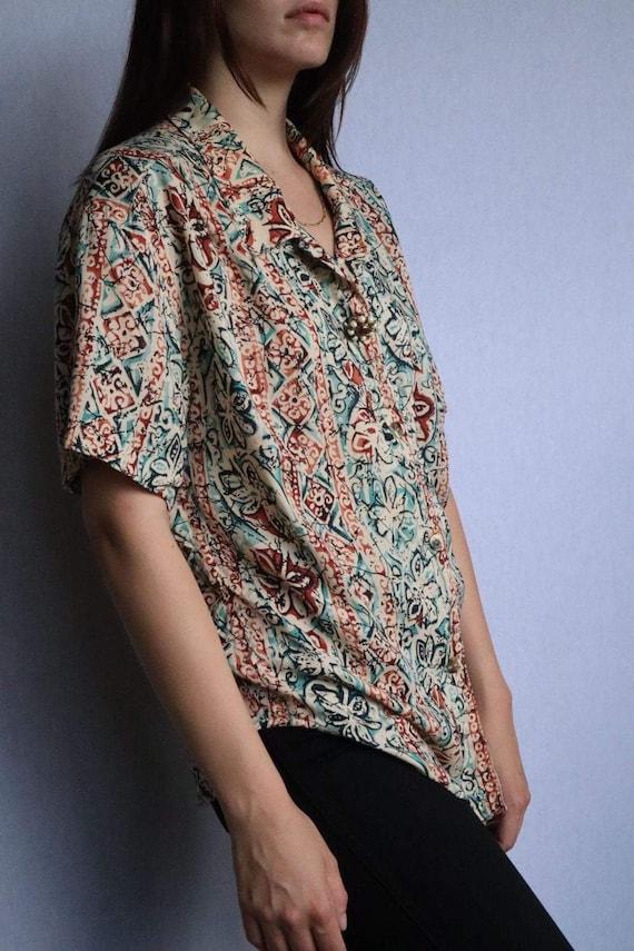 Vintage Floral Button Down Shirt  vintage clothin… - image 3