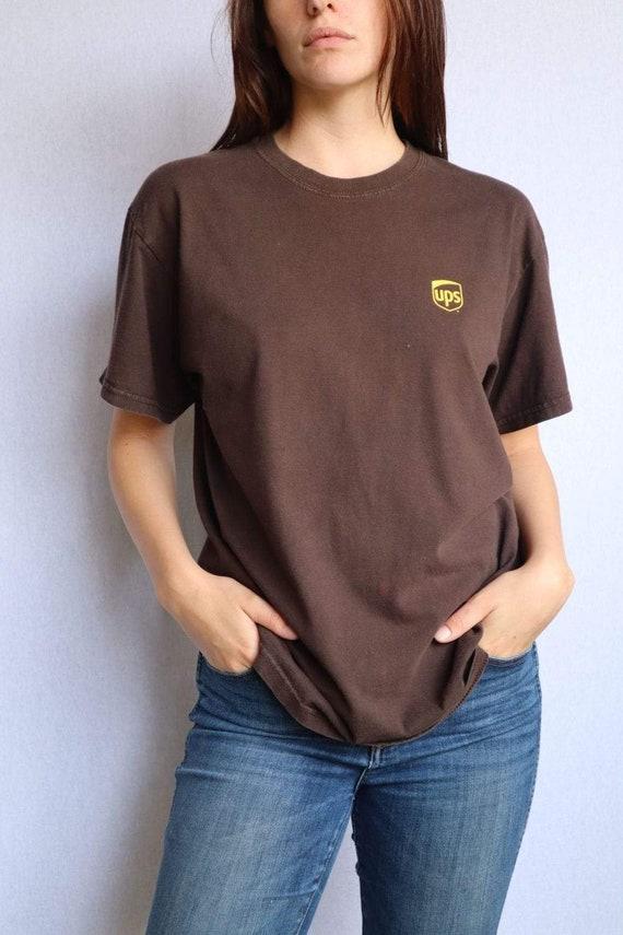 Vintage Brown UPS Large Print Tee - Medium  vinta… - image 3