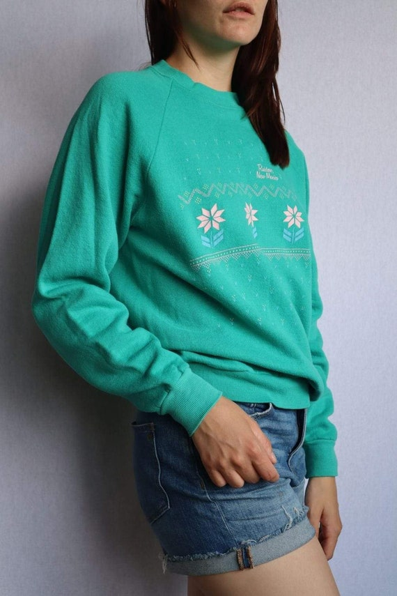 Vintage Womens Green Pullover - Small  vintage clo