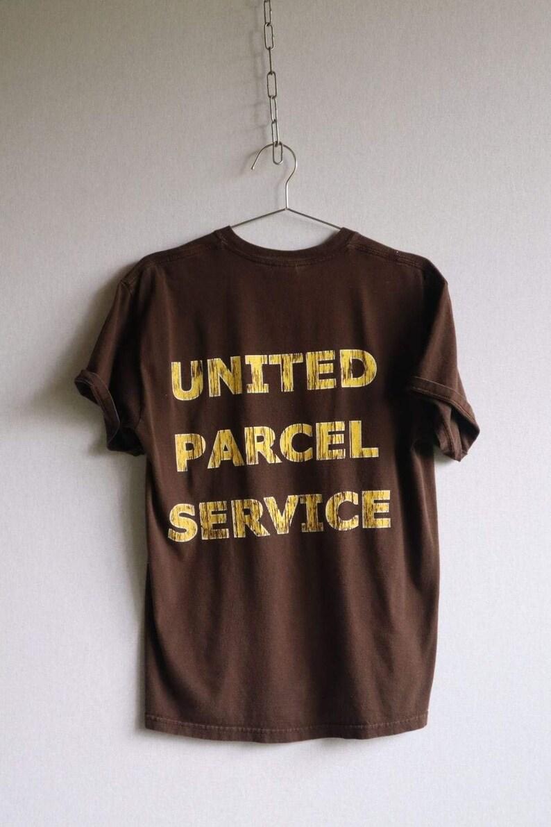 retro t shirts Vintage Brown UPS Large Print Tee womens vintage tees graphic tees Medium  vintage clothing men