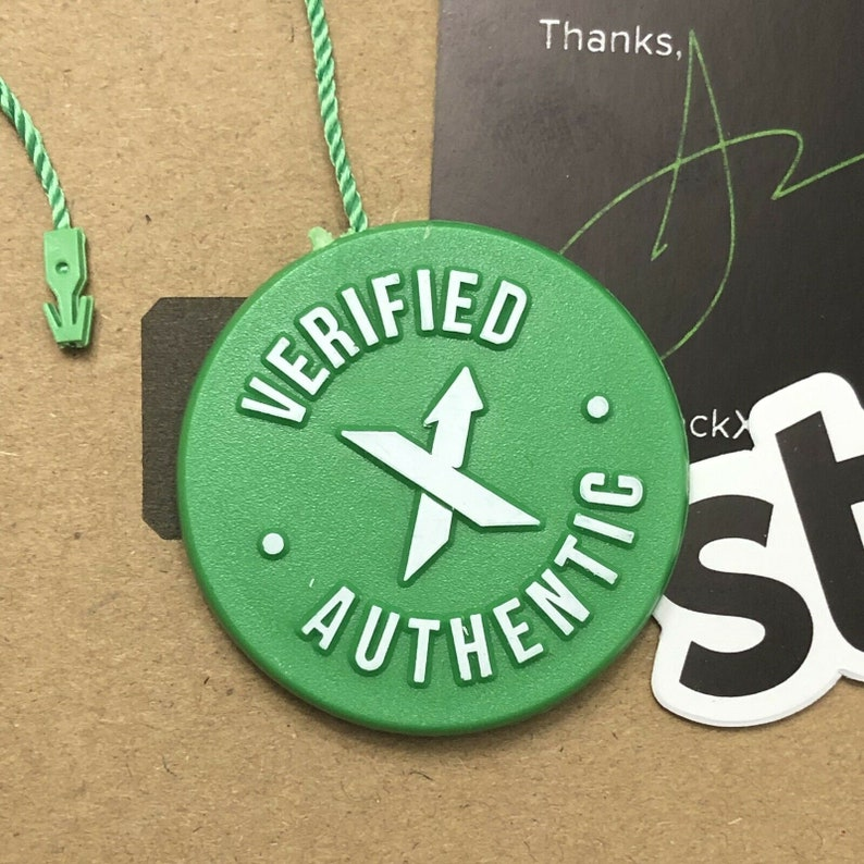 Stock X Verified Uncut Tag - QR Authentication Card - StockX Sticker - FREE  SHIPPING - Hypebeast