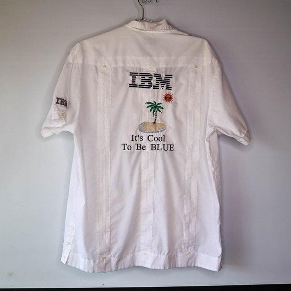 Vintage Vintage IBM Promotional Embroidered Panel… - image 1