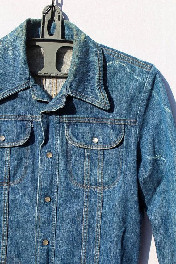 Vintage Western x Denim x Jean Shirt  vintage clo… - image 2