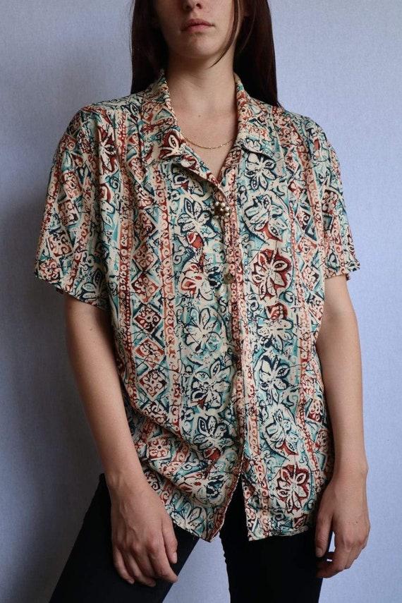 Vintage Floral Button Down Shirt  vintage clothin… - image 4