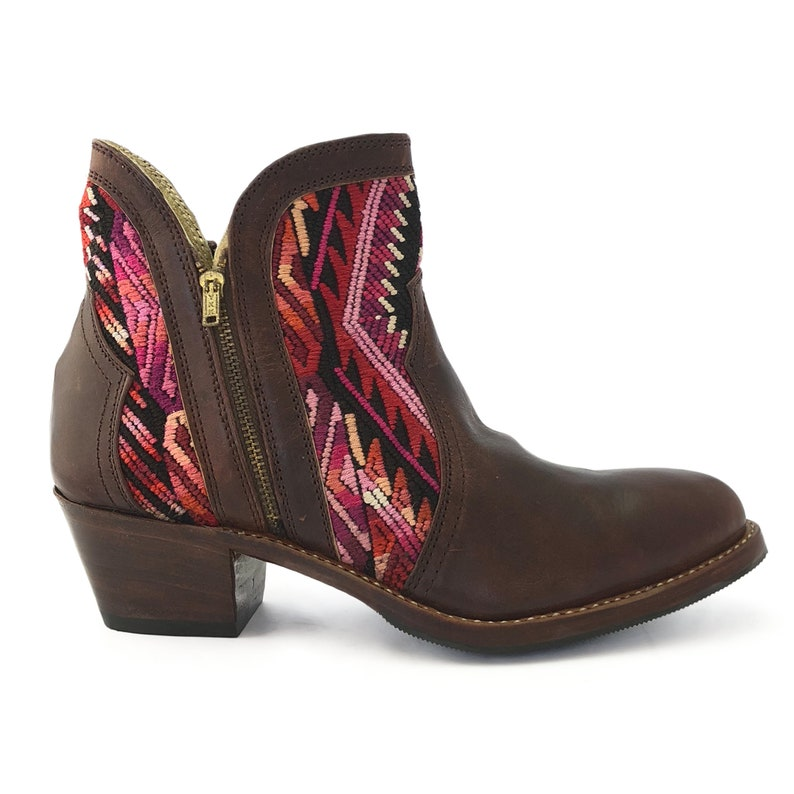 CLEARANCE 30/% OFF Ankle Boots, Guatemalan Shoes Guatemalan Boots Festival Boots Size 36 Euro Boho Boots