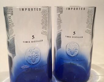 Ciroc Vodka Tall Glass Tumblers / Custom Glasses Tumblers / Gifts / High Ball Liquor Bottle Bar Glasses ( SET Of 4 )