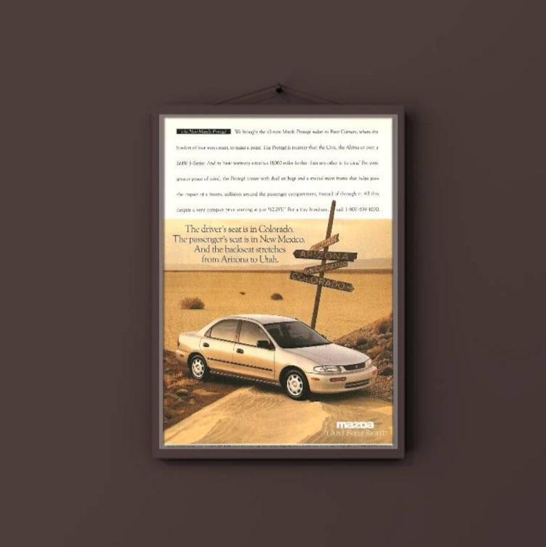 Mazda Protege print advertisement