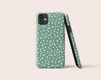 ARA POLKA DOTS Malachite Green Phone Case   iPhone Case   Samsung Case   Google Pixel   Polka Dots Phone Case   Geometric Case   Trend Case