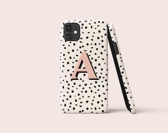 ALPHABET POLKA DOTS Phone Case | iPhone Case | Samsung Case | Google Pixel | Custom | Monogram | Custom Case | Pink | Spots | Personalised