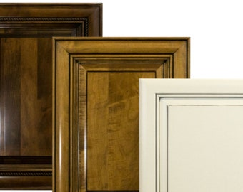 Custom finished solid maple doors