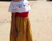 Mexican skirt, long boho skirt, black skirt, maxi skirt, hippie skirt, cotton long skirt, bohemian skirt, falda larga, long vintage skirt