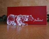 Baccarat Crystal Tiger Figurine Vintage