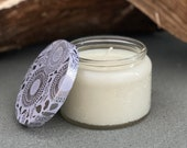 Winter Wonderland Soy Candle - Hand Poured in a Beautiful Glass Jar