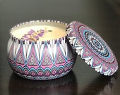 Lavender Powder Soy Candle - Hand Poured in Collectible Metal Jar