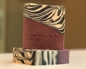 All Natural Soap - Purple Zebra Bar Soap - Coconut Free All Natural Handmade Skin Care - Great for Men too