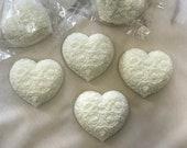 25 CUSTOM FAVORS,  Set of 25 Heart Shaped Handmade All Natural Soap Favors