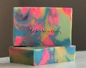 CLEARANCE! Kaleidoscope Coconut Free Bar Soap - All Natural Handmade Skin Care