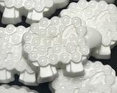 25 CUSTOM FAVORS, Little Lamb Soap Favors, Set of 25 All Natural Handmade Shea Butter Soaps