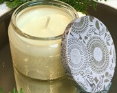 Christmas Cookie Soy Candle - Hand Poured in a Beautiful Glass Jar