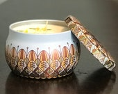 Lemon Bar Soy Wax Candle - Hand Poured in Collectible Metal Jar