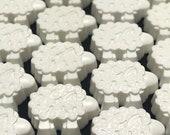 100 SOAP FAVORS, Little Lamb Soap Favors, Set of 100 All Natural Handmade Shea Butter Soaps
