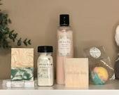 Bath & Body Spa Gift Set - Orange Creme Handmade Soaps, Lotion, Lip Balm, Bath Salts and Bath Bombs - All Natural