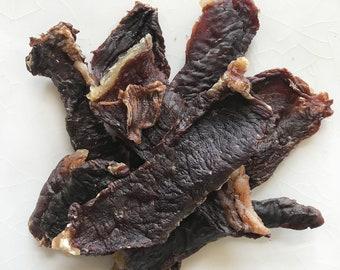 Grass Fed Beef Jerky.  100% Natural Organic Healthy Dog Treats!